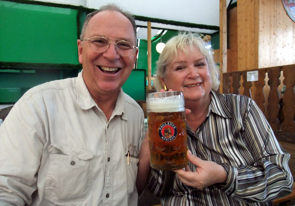 Mike and Carmen at Oktoberfest in Germany